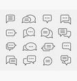 chat icon design element set talk bubble speech vector image