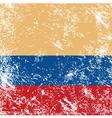Colombia retro flag vector image vector image
