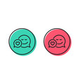 comic speech bubble with smile line icon vector image