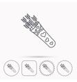 Cupid arrows icon Love weapon sign vector image vector image