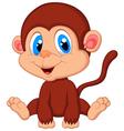 Cute baby monkey cartoon vector image vector image