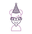 cute young girl with party hat avatar character vector image vector image
