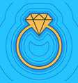 diamond sign sand color icon vector image vector image