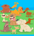 dogs or puppies cartoon characters vector image vector image