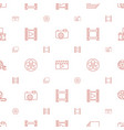 film icons pattern seamless white background vector image vector image
