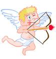 funny cupid vector image vector image