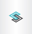 geometric logotype letter s vector image vector image