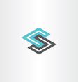 geometric logotype letter s vector image
