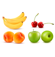Group of fresh colorful fruit