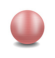 gym ball in pink design with shadow vector image vector image