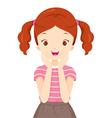 Happy Girl With Teeth Braces vector image