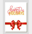 happy holidays celebration xmas and new year vector image vector image