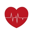 heart rate health cardiology symbol vector image
