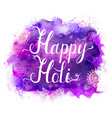 holi festival banner with white lettering vector image