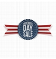 Independence Day Sale textile Label vector image vector image