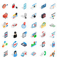 it support icons set isometric style vector image vector image