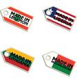 label Made in Lebanon Liberia Lithuania Madagascar vector image vector image