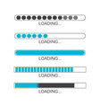 loading bar progress icons load sign vector image vector image