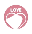 love heart romantic ornament vector image vector image