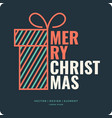 Merry christmas background holiday 2017 vector image