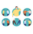 non-contact greeting icon new normal greet vector image