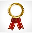 premium golden badge vector image vector image