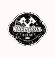 racing champion emblem for t-shirt vector image vector image