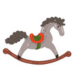 rocking horse isolated on a white background vector image