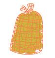 Rustic vegetable pile potato in sack