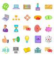 sales revenue icons set cartoon style vector image vector image