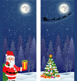 santa claus with gift bag vector image vector image