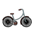 scribble vintage bicycle cartoon vector image