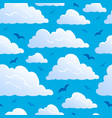 seamless background with clouds 7 vector image