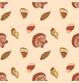seashell marine pattern in neutral colors vector image vector image
