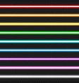 set nine colorful laser beams vector image
