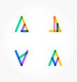 set of minimal geometric multicolor shapes trendy vector image