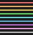 set of nine colorful laser beams vector image