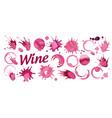 Set splashes red wine on white