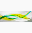 smooth flowing wave motion concept background vector image