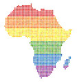 spectrum dotted lgbt africa map vector image