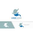 stomach logo design template unique vector image vector image