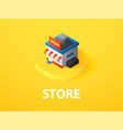 store isometric icon isolated on color background vector image