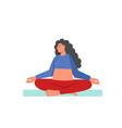 sukhasana yoga pose flat style design vector image vector image