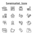 supermarket icon set in thin line style vector image vector image
