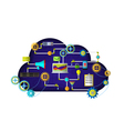 Web Cloud services vector image vector image