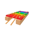 Xylophone cartoon icon vector image