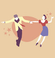 young couple dancing swing rock or lindy hop vector image vector image