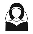 Bride simple icon vector image