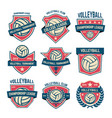 set of volleyball club emblems volleyball