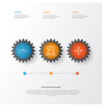 business icons set collection of business aim vector image